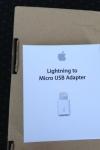 Lightning - Micro USBアダプタ 外箱