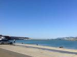 能生漁港に到着
