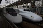 岡山駅/700系とN700系