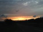 茅野の夕焼け