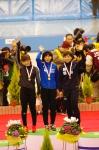 女子1000m1回目 表彰台