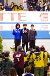 女子500m2回目 表彰式