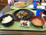 お昼ご飯は、鹿肉のジンギスカン定食