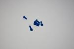 手持ちのタミヤ六角ボタンヘッドビス ブルー